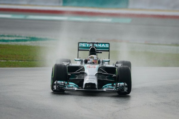 Mercedes driver Lewis Hamilton takes a corner during the first qualifying session of the Formula One Malaysian Grand Prix at Sepang. AFPpic