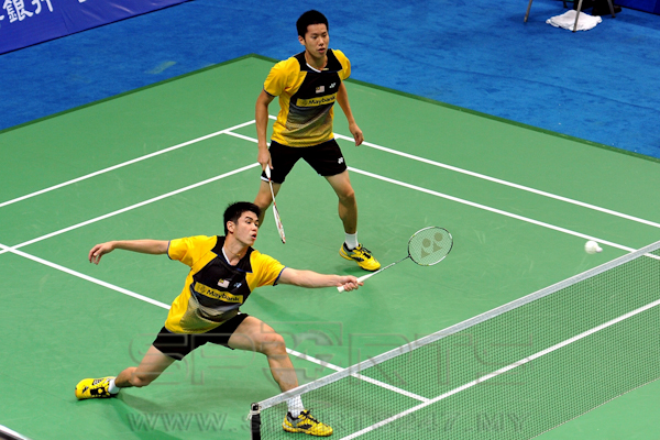 NO LUCK: Goh V Shem-Lim Khim Wah could not find their touch in the final.