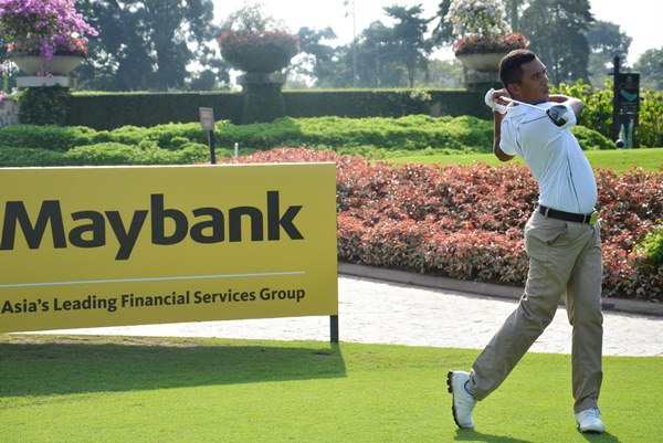 IN THE LEAD: Kenneth De Silva kept cool in the scorching weather to shoot a 73 on the opening day of the Maybank Malaysian Open National Qualifiers.