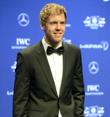 FIRST TIME WINNER: Four-time Formula One champion Sebastian Vettel won his first Laureus sportsman of the year award. AFPpic