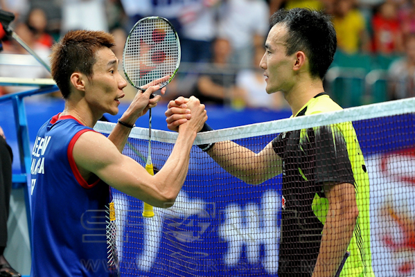 Chong Wei could face Du Pengyu (right) in the quarters.