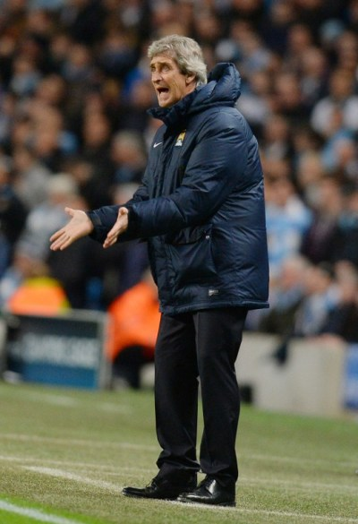 Manuel Pellegrini was furious with referee official Jonas Eriksson, whom he claims was the catalyst of City's defeat/AFP pic.