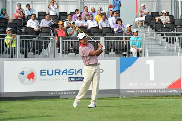 NO FEAR: Nicholas Fung played brilliant despite Team Asian going 5-0 down to Team Europe on the first day of the EurAsia cup. ASIAN TOURpic