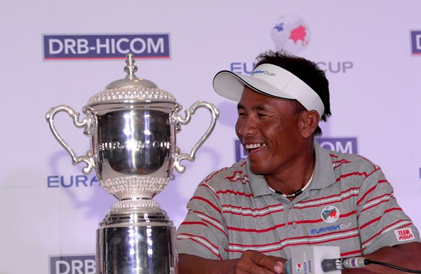Team Asia captain Thongchai Jaidee of Thailand has vowed to go on the attack in the EurAsia Cup. Picture by PAUL LAKATOS/Asian Tour