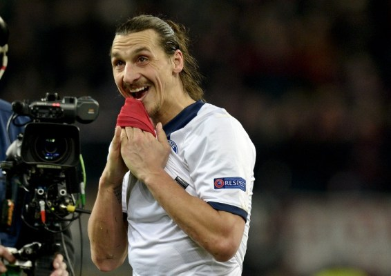 Zlatan Ibrahimovic's brace helped PSG to a 4-0 demolition of Bayer Leverkusen/AFP pic