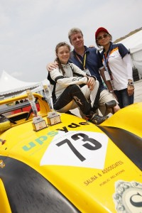 RACING FAMILY: Natasha (left) seen here with her family, can go far in this year's series.