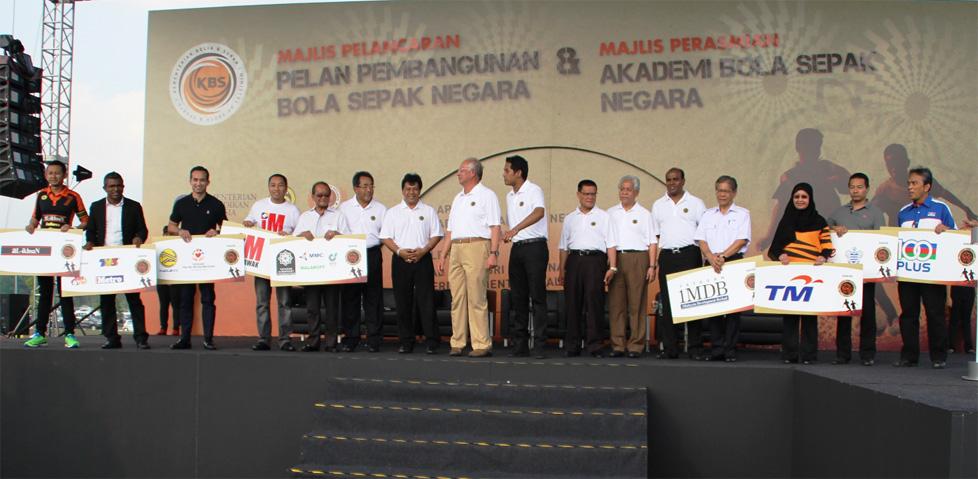 National Football Development Plan (NFDP) was launched by Malaysian Prime Minister Dato' Sri Mohd Najib Tun Abul Razak.