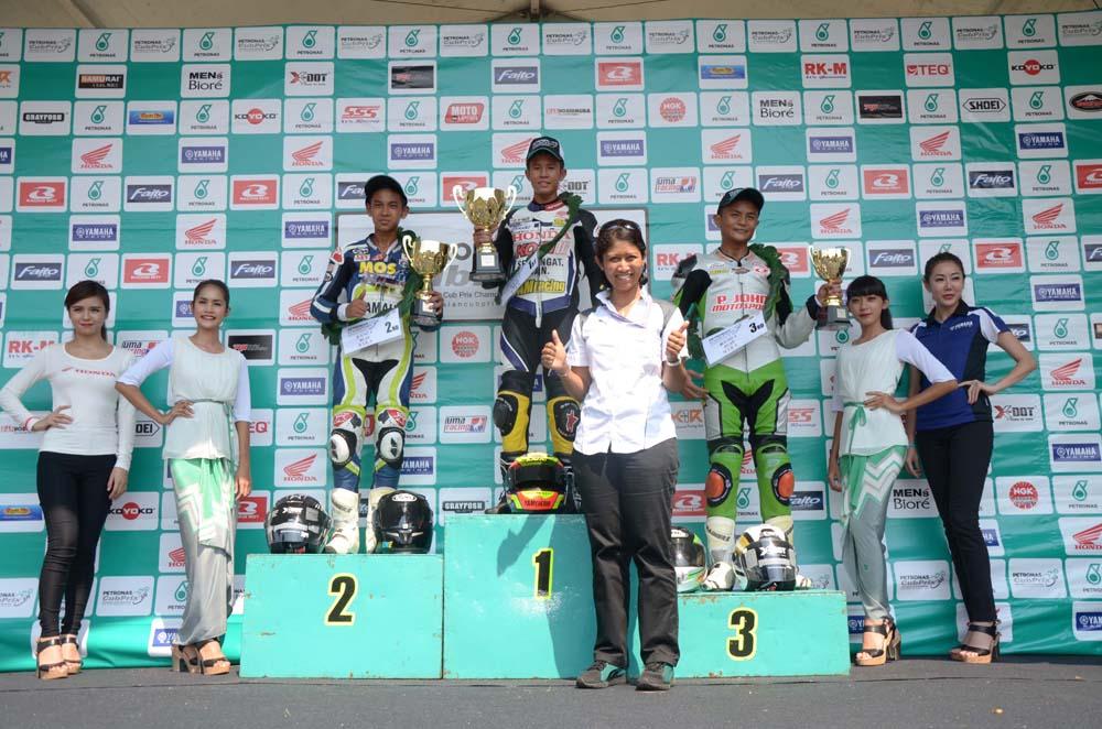 PETRONAS AAM Malaysian Cub Prix Championship - WIRA-Podium