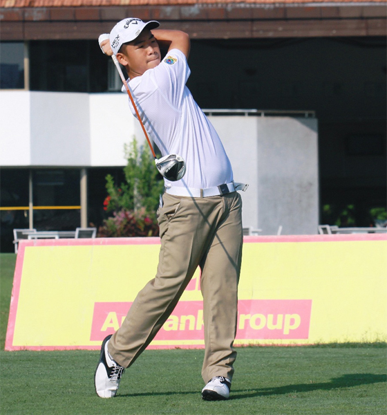 Bryan is expected to defend the Under-15 crown RSGC AmBank Junior Amateur Open Golf 2014