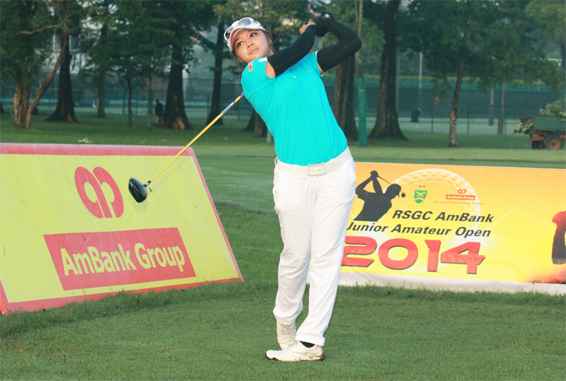 Princess Mary Superal of the Philippines plays a shot in the second round of the RSGC AmBank Junior Amateur Open Championships