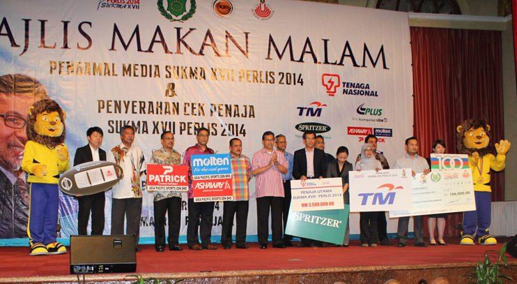 The Perlis Government has received RM5.5 million in sponsorships from various corporations for the 17th Sukan Malaysia (Sukma).