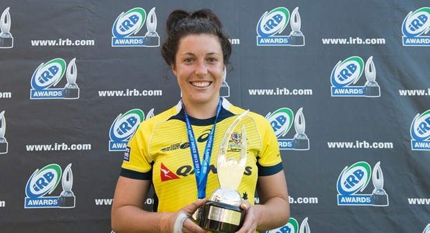 Australia's Emilee Cherry has been named the IRB Women's Sevens Player of the Year.