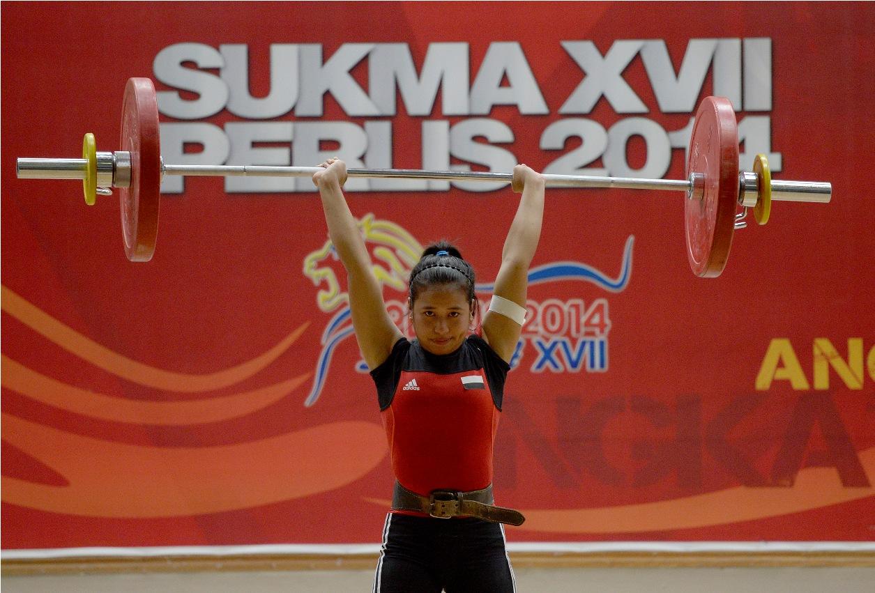 Sukma XVII Perlis 2014 - Angkat Berat -  Siti Zaleha Yusop
