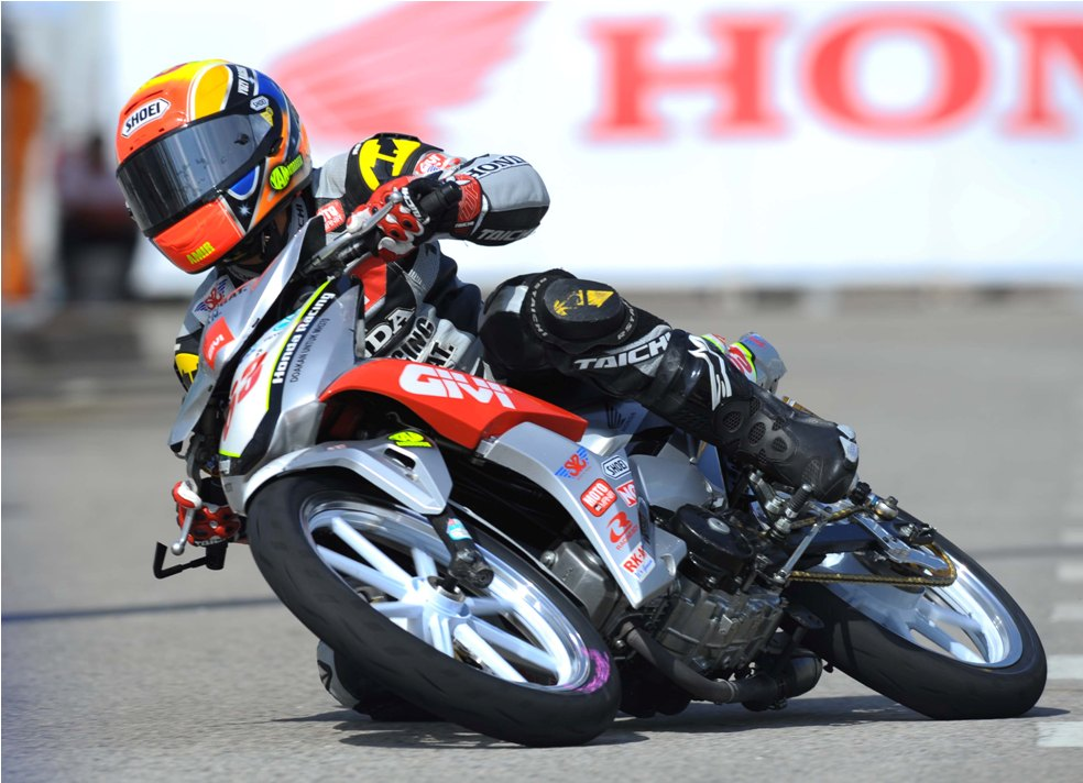 Amirul Ariff in action during the Terengganu Cub Prix
