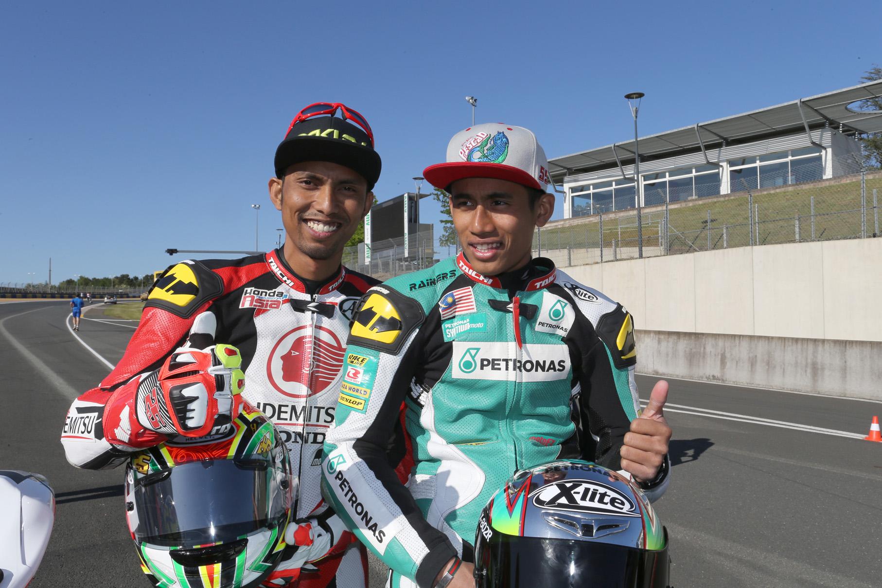 PETRONAS Raceline Malaysia - Azlan Shah Kamaruzaman(right) & Hafizh Syahrin