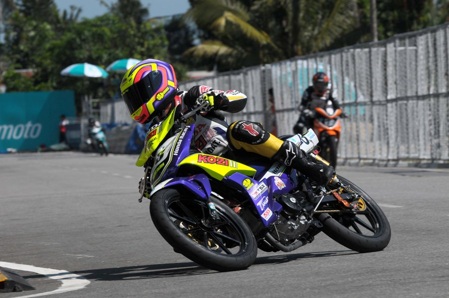 Khairul Idham Pawi in action in Muar