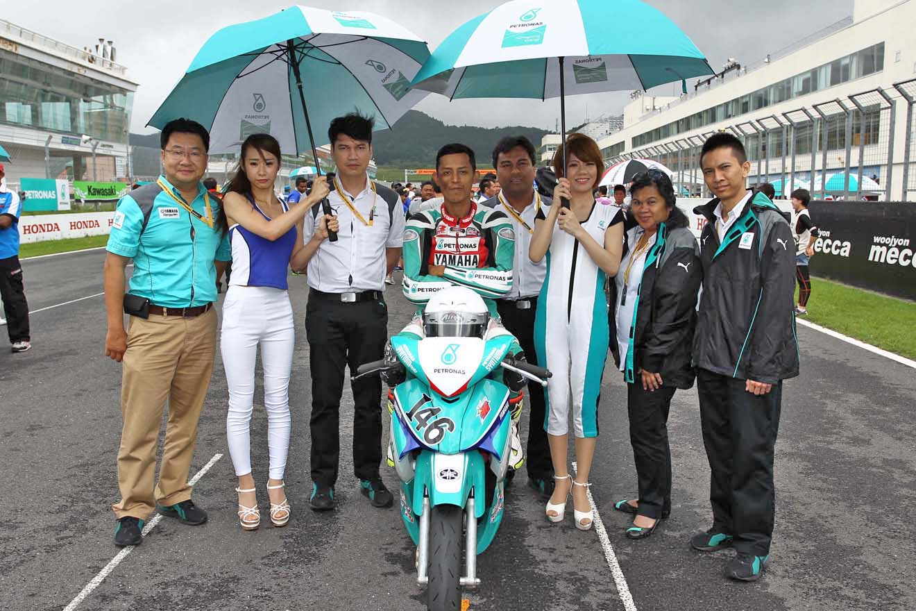 Ahmad Fazli Sham on the UB130 grid at Autopolis Japan last weekend