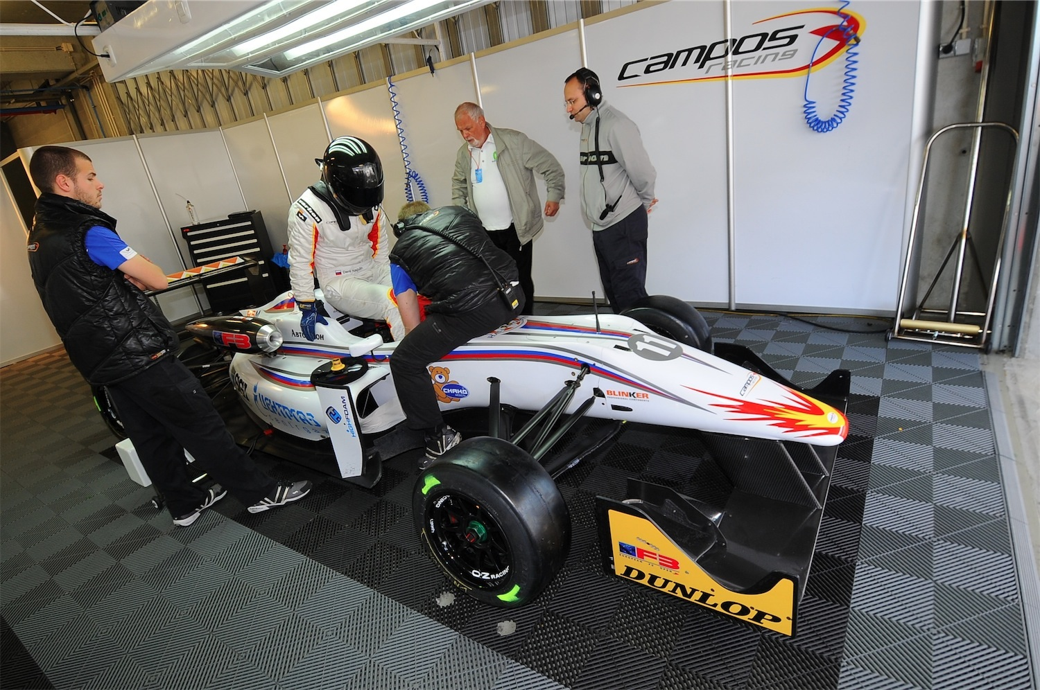 Nagulin stepped up to European F3 Open Championship with Campos Racing in 2012.