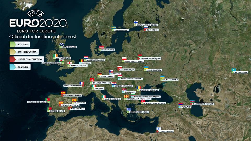 Carte Euro 2020