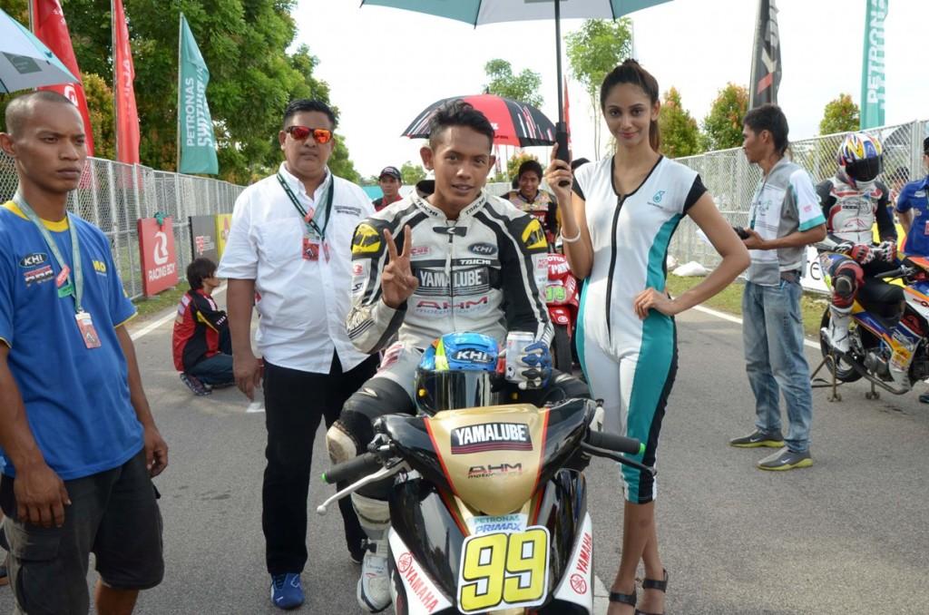 Haiekal Akmal Zakaria on the CP130 starting grid