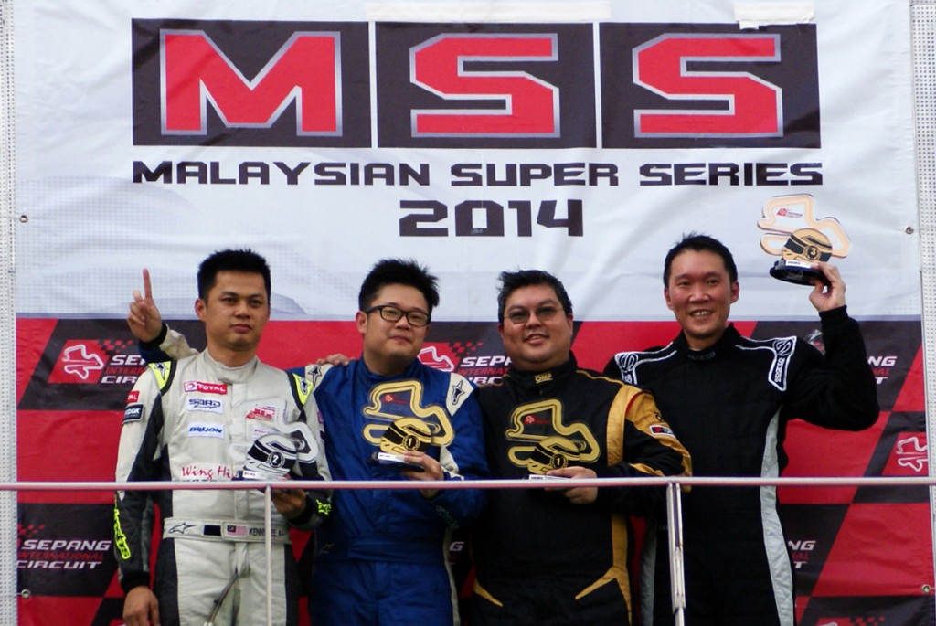 Malaysians Chris Tan and Alan Wong combined effectively in the Touring Production category to claim the chequered flag in a closely contested encounter during Round 4 of the Malaysian Super Series at the Sepang International Circuit today.