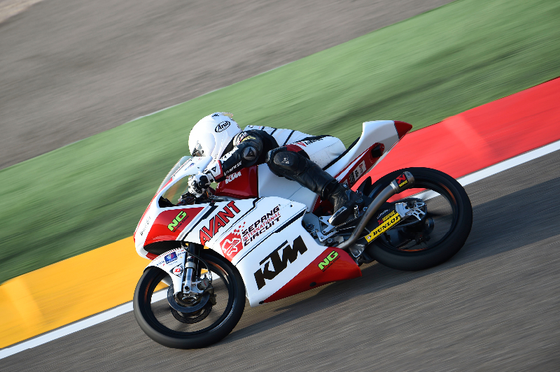 The SIC-Ajo Team rider finished up a tight qualifying session to land the 28th best time for the Grand Prix of Aragon.