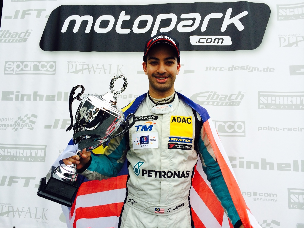 ATS Formula 3 - Nabil Jeffri triumphant with his trophy