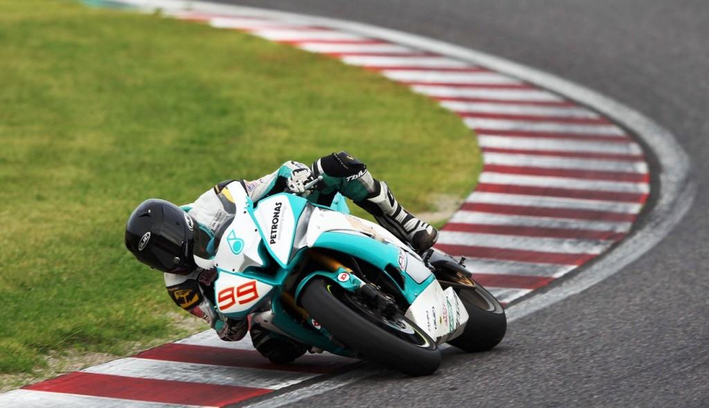 Ramdan Rosli in action during the ARRC round at Suzuka