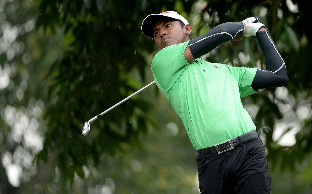 The 33-year-old Shaaban, four shots off the pace, was flying after his stunning eagles but came back down to earth when an overzealous drive on the seventh hole led to a double bogey.
