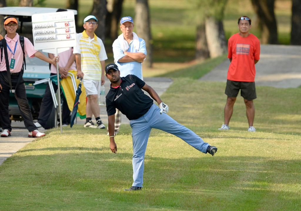 Anirban Lahiri of India pictured in action.