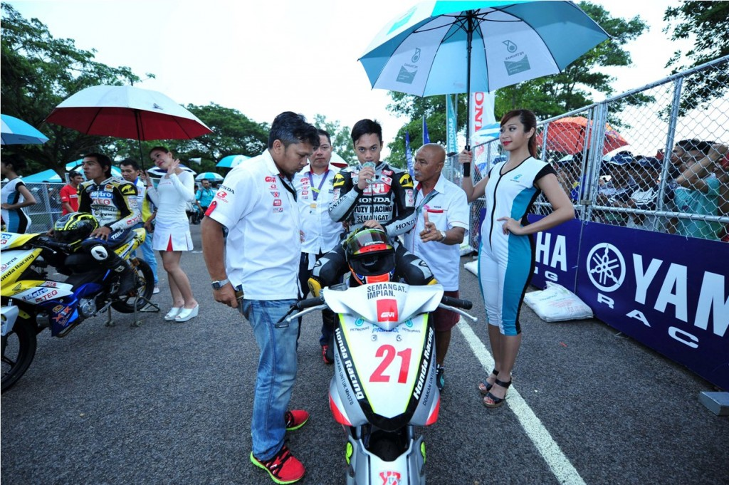 Zaqhwan on the CP130 starting grid in Kluang