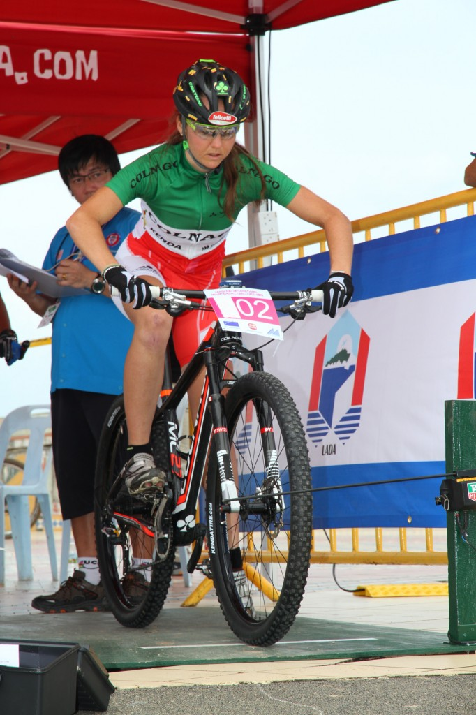 Eva Lechner is a Italian cyclo-cross, road bicycle racer and mountain bike racer who has won at least one national title in all three disciplines.