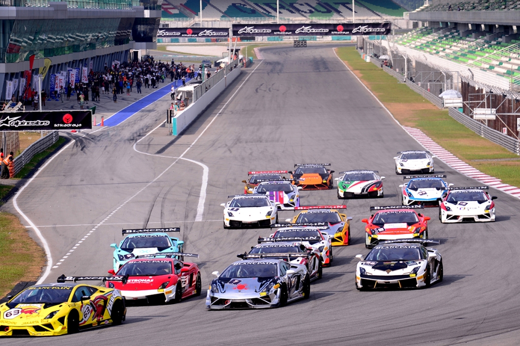 Sepang International circuit, as it was this prestigious track chosen to launch the Lamborghini Blancpain Super Trofeo Series in the Asian continent.