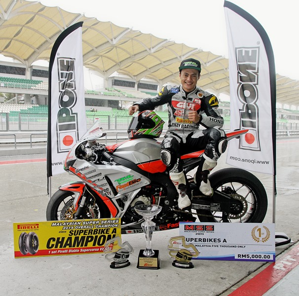 Mohd Zaqhwan Zaidi emerged victorious in the final round of the Malaysian Super Series (MSS) 2014 as he clinched the Superbike overall title at the Sepang International Circuit (SIC)