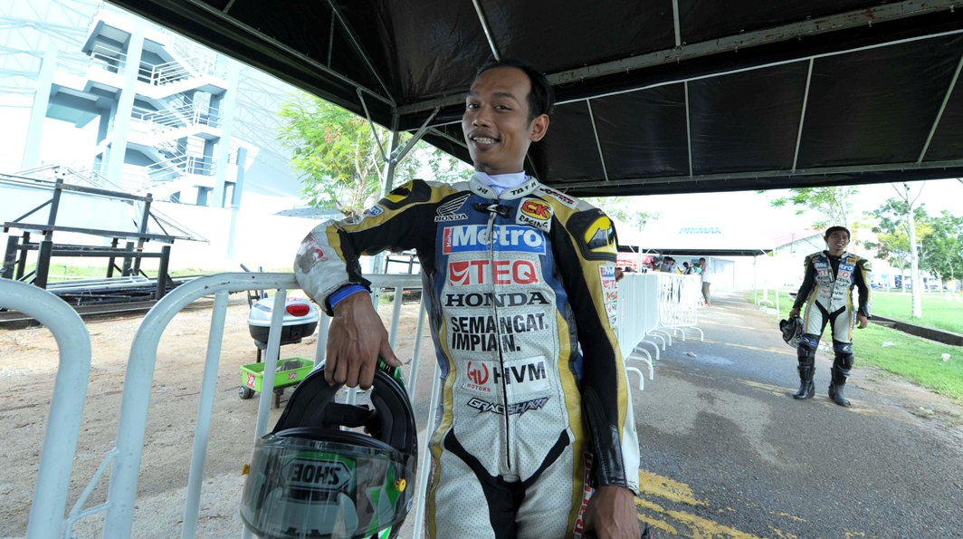 Norizman Ismail relaxed ahead of the Cub Prix finale in Alor Setar this weekend