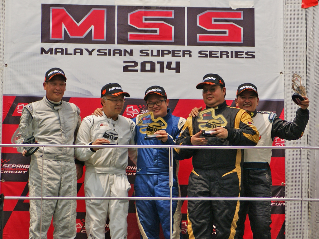 Malaysian Super Series Cars (Touring Production) - From left; Tommy Lee, Damian Dielenberg, Chris Tan, Alan Wong & Tony Teo.