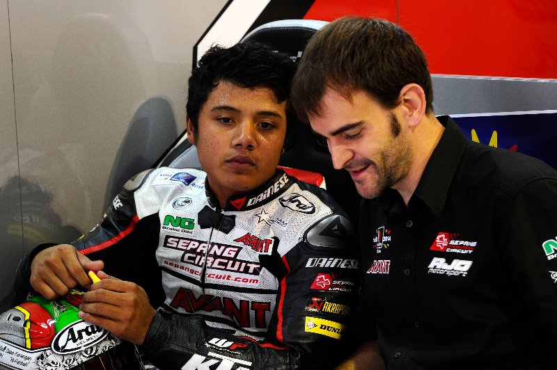 """The truth is that I have a good feeling with the bike and the track for tomorrow"", Hafiq Azmi."