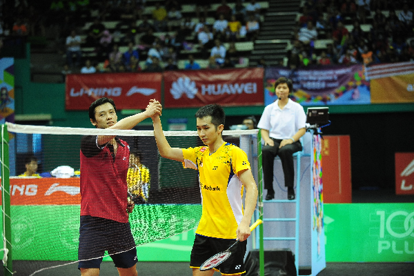 The national badminton squad have lost to Asia All-Stars based on overall points scored for third placing in the 2014 Axiata Cup Badminton championship. Men's singles player Chong Wei Feng who controlled the game initially lost his rhythm after stopping several times due to lighting disturbance