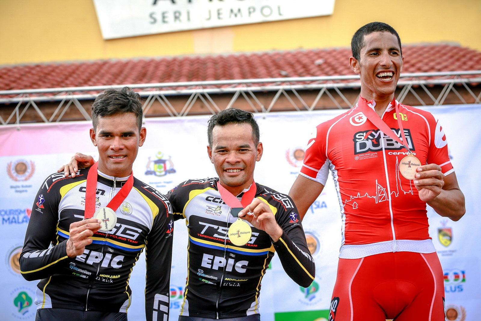 Jelajah Malaysia 2014 - From left - Mohd Hariff, Mohd Zamri and Rafaa Chtioui