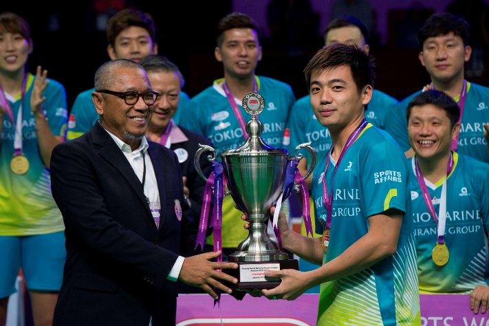 Selaku juara, Muar City membawa pulang hadiah wang tunai berjumlah RM 1 juta manakala Petaling Jaya yang menamatkan cabaran selaku naib juara menerusi kemenangan ke atas Kelab Badminton Kepong, menerima RM400,000. Kredit Foto – www.1titan.com