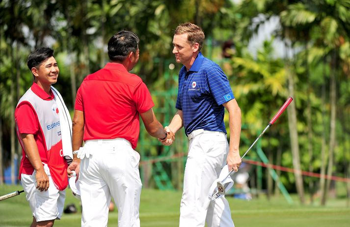 Danny Chia and Ian Poulter