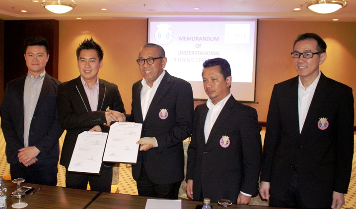 Tan Sri Mohamed Al Amin Abdul Majid, the Acting President of the BAM and Dato' Jack Koh, Chief Executive Officer of Purple League SdnBhd, signed the in Genting Highlands.