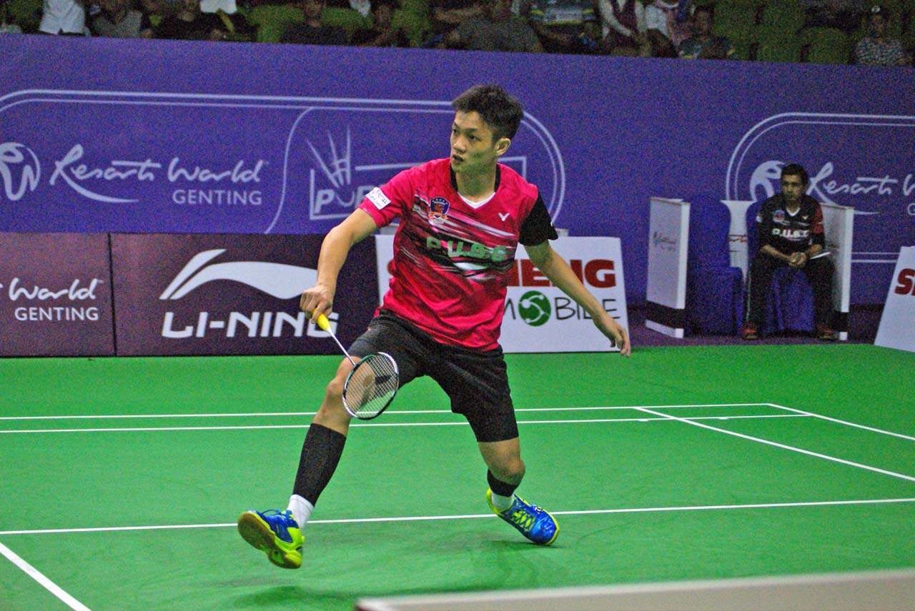 """""""This is my first match in the Purple League but I knew that I had an important part to play. I had no choice but to take the court and give my boost,"""" said Liew Daren"""