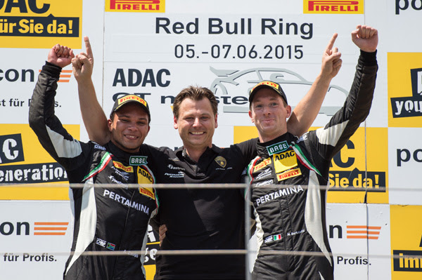 The first appearance of Grasser Racing Team in the ADAC GT Masters (Red Bull Ring 2015) was rewarded with a victory in the second race.