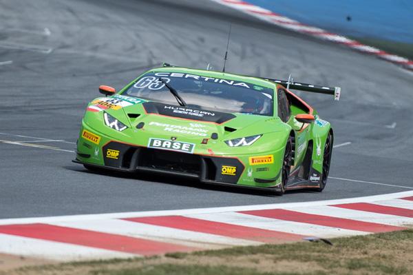 Grasser Racing Team with Lamborghini Huracan GT3 at ADAC GT Masters (Red Bull Ring).