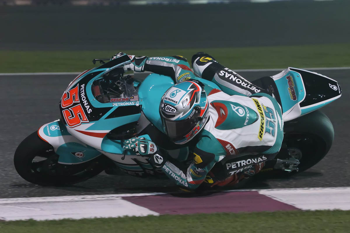 Hafizh Syahrin will start Sunday's Qatar Grand Prix at the Losail International Circuit from sixth row following a difficult qualifying session.