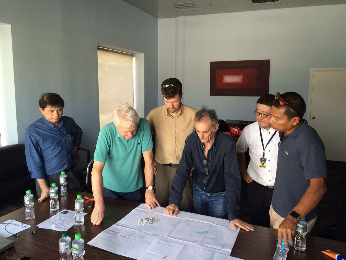 (From Left) Mr Paul David, Committee Member of AAM; Mr Charlie Whiting, FIA Safety Delegate and F1 Race Director; Mr Jarno Zaffelli, Owner of Dromo Circuit Design and the Project Consultant appointed by SIC; Mr Franco Uncini, FIM MotoGP Safety Officer; Mr Toshiaki Okada, Managing Director of Nippon Road (M) Sdn Bhd and Dato' Razlan Razali, CEO of SIC during the track inspection.