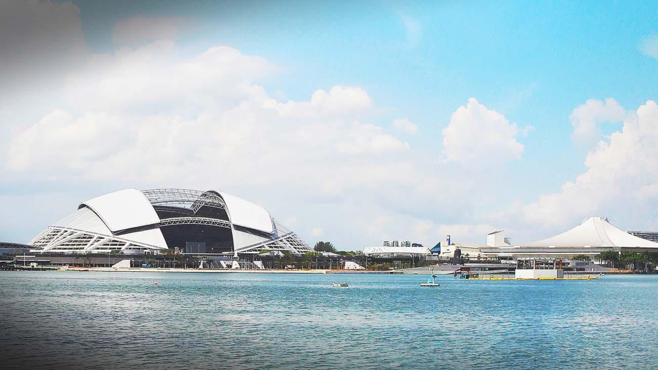 Stadium Nasional Singapura yang menjadi destinasi ke-8 dalam siri Kejohanan HSBC Ragbi Dunia 7 Sepasukan 2016.