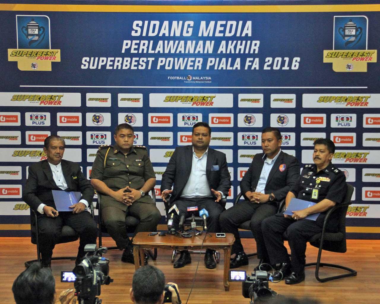 Sidang Media Perlawanan Akhir Piala FA 2016 - Johor Darul Takzim(JDT) vs PKNS FC