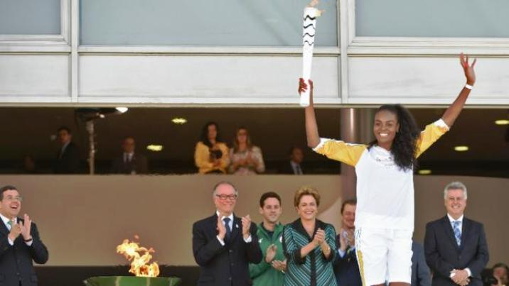 olympic.flame in brazil
